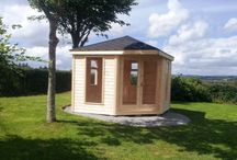 Whitethorn Garden Summer Houses / A collection of custom made bespoke garden summer houses.