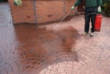 Repairs and reseals / Quality repairs and expert cleaning and resealing of pattern imprinted concrete paving