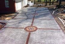 Pavimenti in cemento stampato