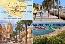 Biking Sicily! / Ride along with us as we pedal back in time on (and eat our way through)  the beautiful Mediterranean island of Sicily in Italy! / by The GypsyNesters