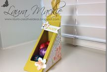 Stamping up Easter boxes