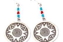 Bijoux collection Pharohippie / Création bijoux en argent inspiration Hipanema chez votre créateur Laoula à Toulouse, boucles d'oreilles, colliers et pendentifs. Vente direct à http://www.laoula-bijoux.com
