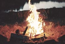 "Bonfire / ""Splashing through the sand bar  Talking by the campfire  It's the simple things in life, like when and where  We didn't have no internet  But man I never will forget  The way the moonlight shined upon her hair"""