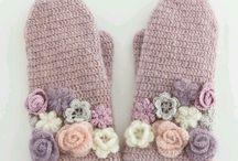 guanti con fiori e rose