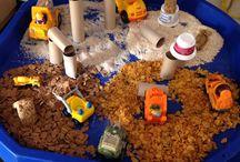 Construction sensory play