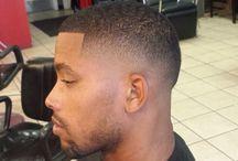 black man haircut fade