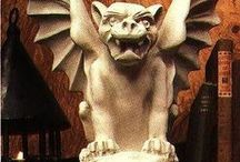 Gargoyles & Guardians / Protectors....used to direct water runoff away from building foundations or guard an entrance against intruders. Sometimes they are grotesque looking. / by Judith Hindall