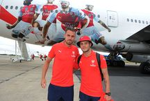 Arsenal's Emirates Tour plane