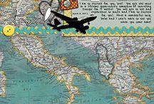 Travel scrapbook page idea