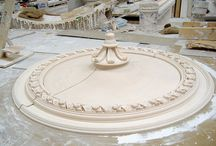Garrison House, Millport, Isle of Cumbrae / Garrison House had been derelict for years following extensive fire damage. We were provided with samples of the original cornice and panel mouldings. Unfortunately, the ceiling rose had been completely destroyed, and all the client had was a single photograph.  Equipped with this photo, our plaster restoration team modelled a new ceiling rose from scratch. Every intricate detail of the rose was created with skill and care.