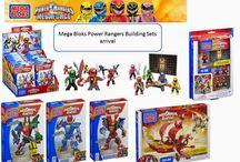 Mega Bloks Power Rangers Building Sets new arrival.