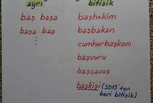 Türkçe notlar