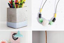 Einrichtung / Farben, Möbel, Zementfliesen
