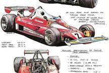 wyścigowe rysunki