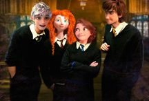 The big four on The Hogwarts Express