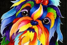Shih Tzu Art / Whether it's on your wall or as a bumper sticker on the back of your truck, we all love great Shih Tzu art.