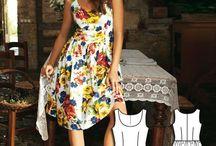 рисунок ткани для платья