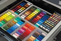 Art supplies i Love / all the pins listed here are my fav.. would love to use these ideas to decorate and organize my studio one day..