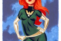 Marvel Heroes - Marvel Girl / Comic and animation art for the great Marvel Girl! Whether played by Jean Grey (Phoenix), Valeria Richards or Rachel Summers, Marvel Girl is one of the great Marvel Comics heroines.