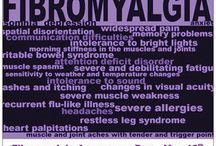 Fibromyalgia / Chronic Pain # 1 / Fibromyalgia is a disorder characterized by widespread musculoskeletal pain accompanied by fatigue, sleep, chronic pain, IBS, depression, nerve pain, memory/mood issues, & much more. Researchers believe that fibromyalgia amplifies painful sensations by affecting the way your brain processes pain signals. Symptoms sometimes begin after a physical trauma, surgery, infection or significant psychological stress. In other cases, symptoms gradually accumulate over time with no single triggering event. / by Melissa Lewis