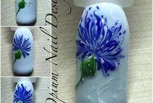 Цветочки ногтевые