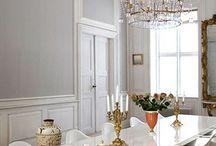 Old & New / A collection of Interiors showing contemporary items in traditional rooms & Architecture.