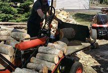 log splitter with lift
