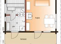 Kesäkeittiö / pukuhuone / sauna