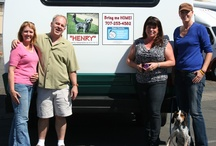 "Adopt / Bring Me Home! We hope to ""drive"" adoptions of rescue pets by showcasing adoptable ones on our buses. We partner with the Napa Animal Shelter / by Platypus Tours"