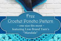 Crocheting ponchos