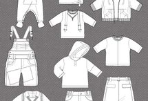 Kids fashion sketches