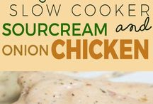 Sour cream/mushroom soup chicken