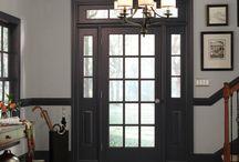 Black outside door