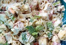 Rabit Food / Nothing beats a salad on a warm summer's day. Add a glass of wine .  . Perfection.
