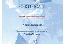 Certyfikaty RE/MAX / Moje certyfikaty