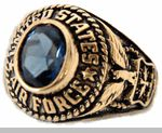 Women's Military Rings / Women's rings for the U.S. Army, Navy, Air Force and Marines in both Gold rings and Rhodium rings