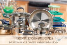 Essential Kitchen Sweepstakes / It's a contest to win the Essential Kitchen. 1 Grand prize. (3) 2nd prize winners and eight (8) 3rd prize winners. Open to legal US residents 18 or older. Void where prohibited. Visit website for full details and rules. / by Anchor Hocking