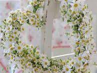 Guirlanda de coração com flores