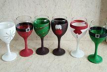 Glitter Glasses Xmas