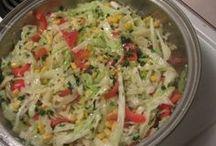 saladas e sucos.