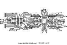 circuit board type tattoos