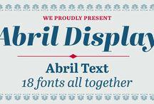 Typefaces / by Karen Huang