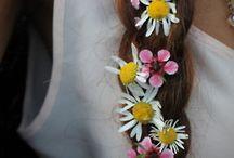 Hår / Blomster, fletninger