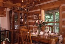 Delightful Dining Areas- Honest Abe Log Homes / This is a board about dining room decor for log cabin. It is for people that are interested in a variety of dining room looks for log homes or log cabins, especially Honest Abe Log Homes.