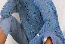 Knitting blue jersey