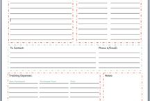 Organized / Print out for organizing