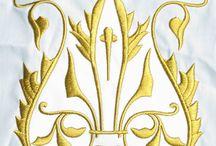 Вышивка скатерти / Машинная вышивка на скатертях + коллекция схем для вышивки крестом