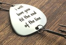 {•valentine's day•} /  Personalized gifts for your Valentine.  Personalized fishing lure, tie clips, golf ball markers, guitar picks and keychains.  Perfect gifts for Valentine's Day.