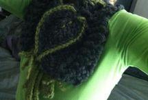 MY WORKS - knit&crochet / Lavori a maglia,  knitting, uncinetto, berretti, sciarpe