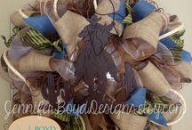 Western mesh wreaths  / by Jackie Lara